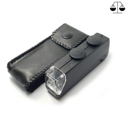 Nieuwe Zak Mini Loep / Microscoop 60x tot 100x Met Led Verlichting